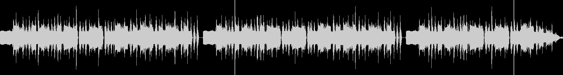 ヘンテコな雰囲気のBGMの未再生の波形