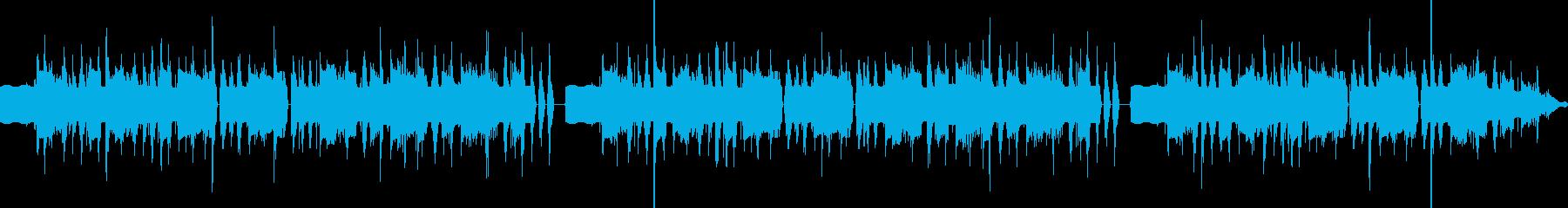 ヘンテコな雰囲気のBGMの再生済みの波形