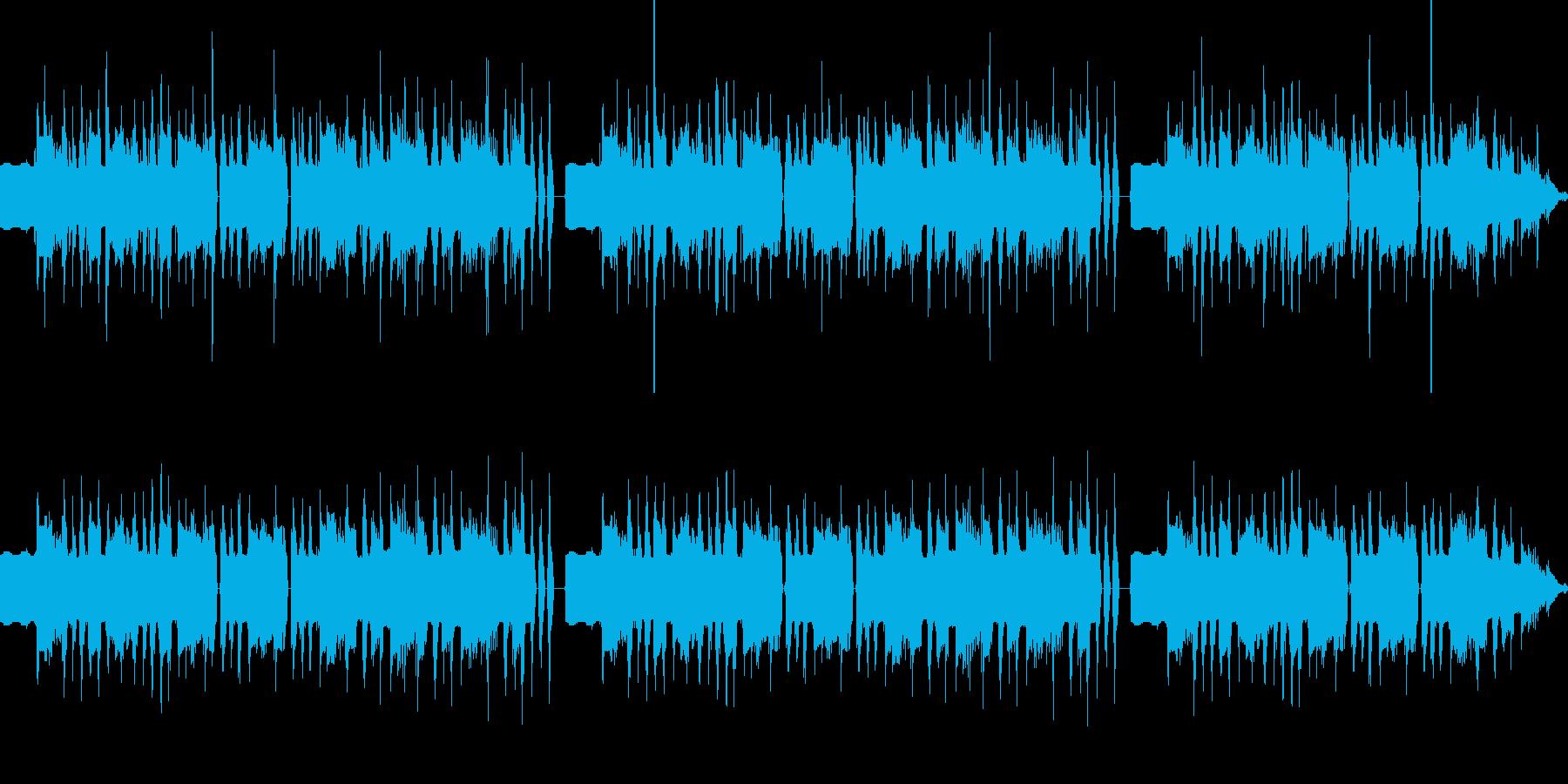 ハロウィン向けの怪しい雰囲気に包まれた曲の再生済みの波形