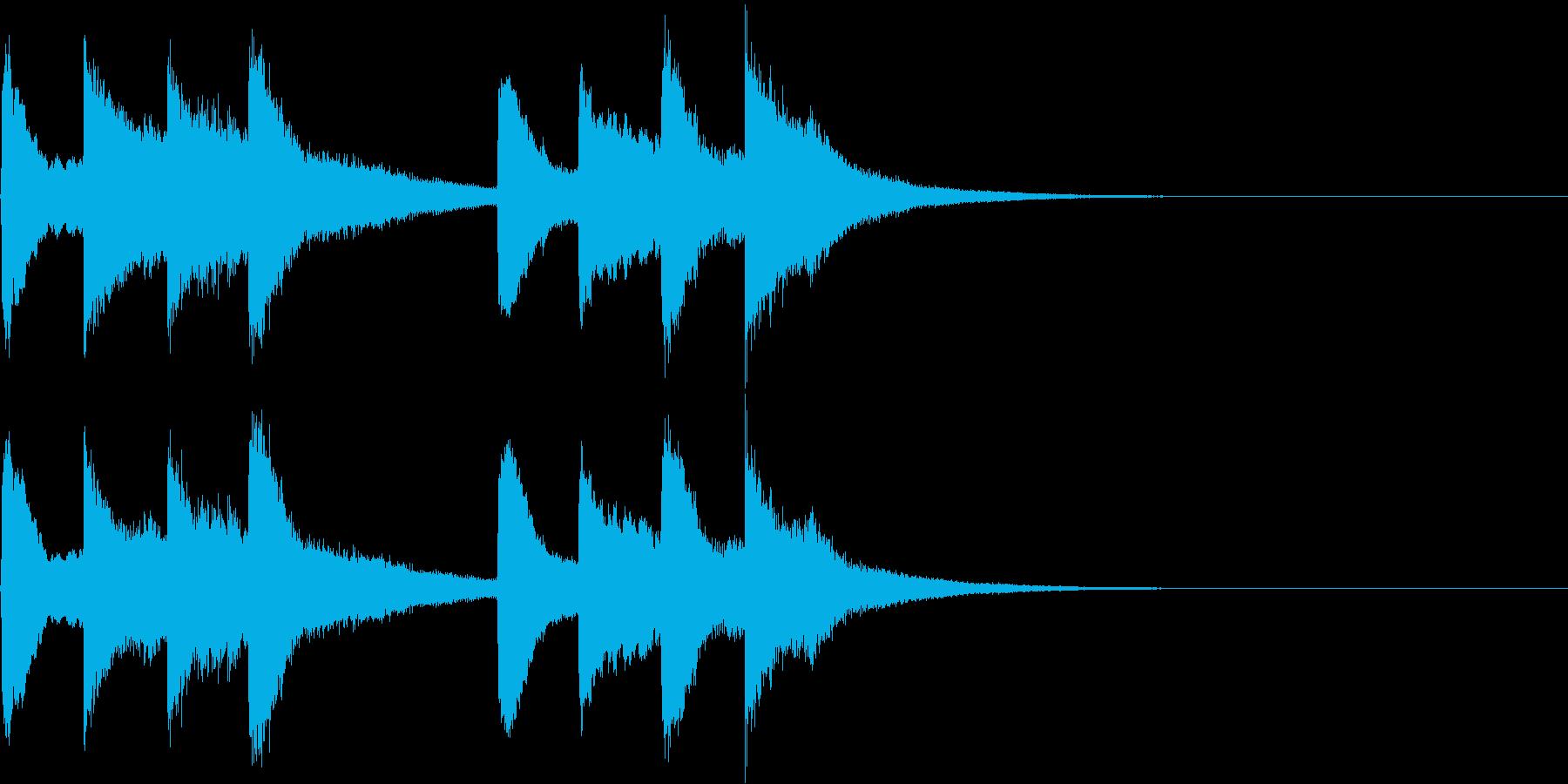 学校のチャイム(生演奏)の再生済みの波形