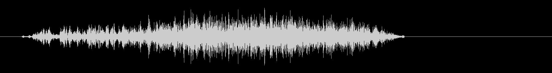 スッ(決定音、小さい摩擦音)の未再生の波形