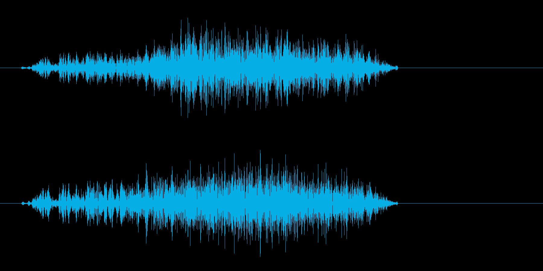 スッ(決定音、小さい摩擦音)の再生済みの波形