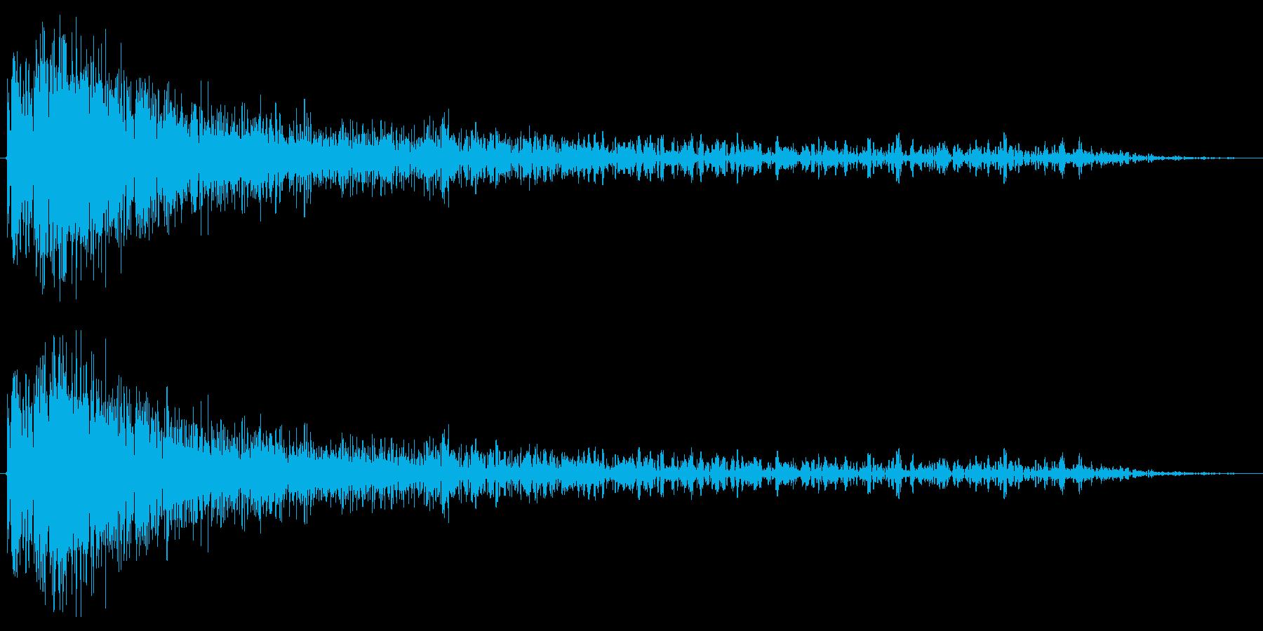 爆発音1発の再生済みの波形