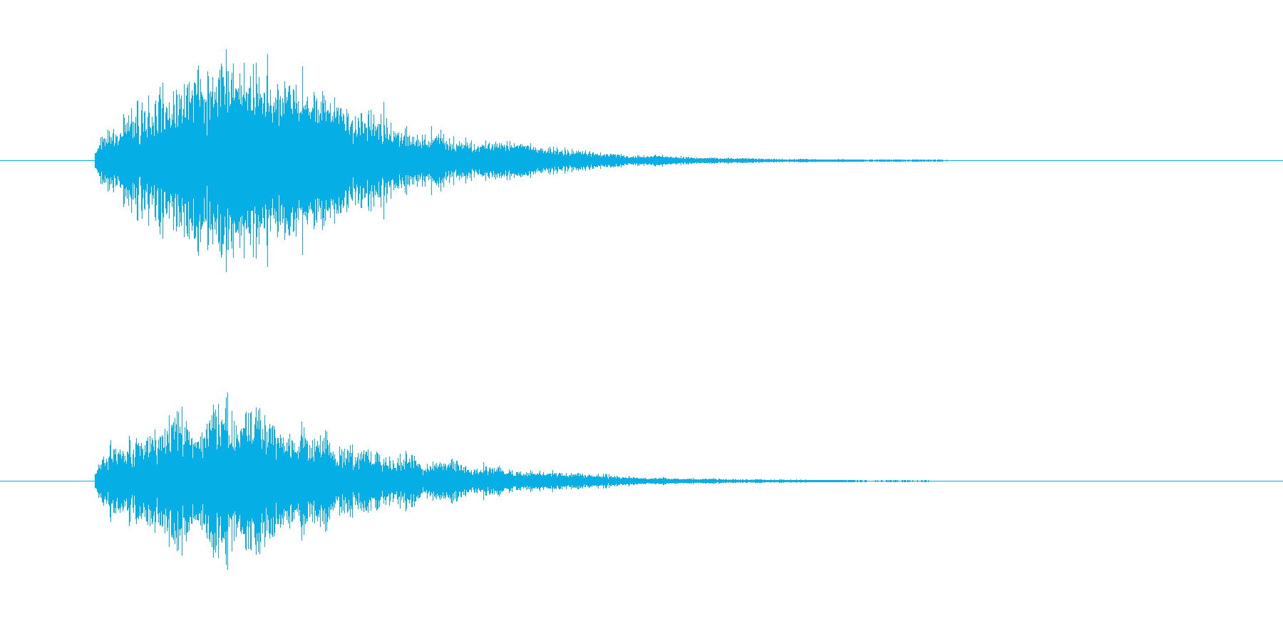 IT、コンピュータ系のサウンドロゴの再生済みの波形