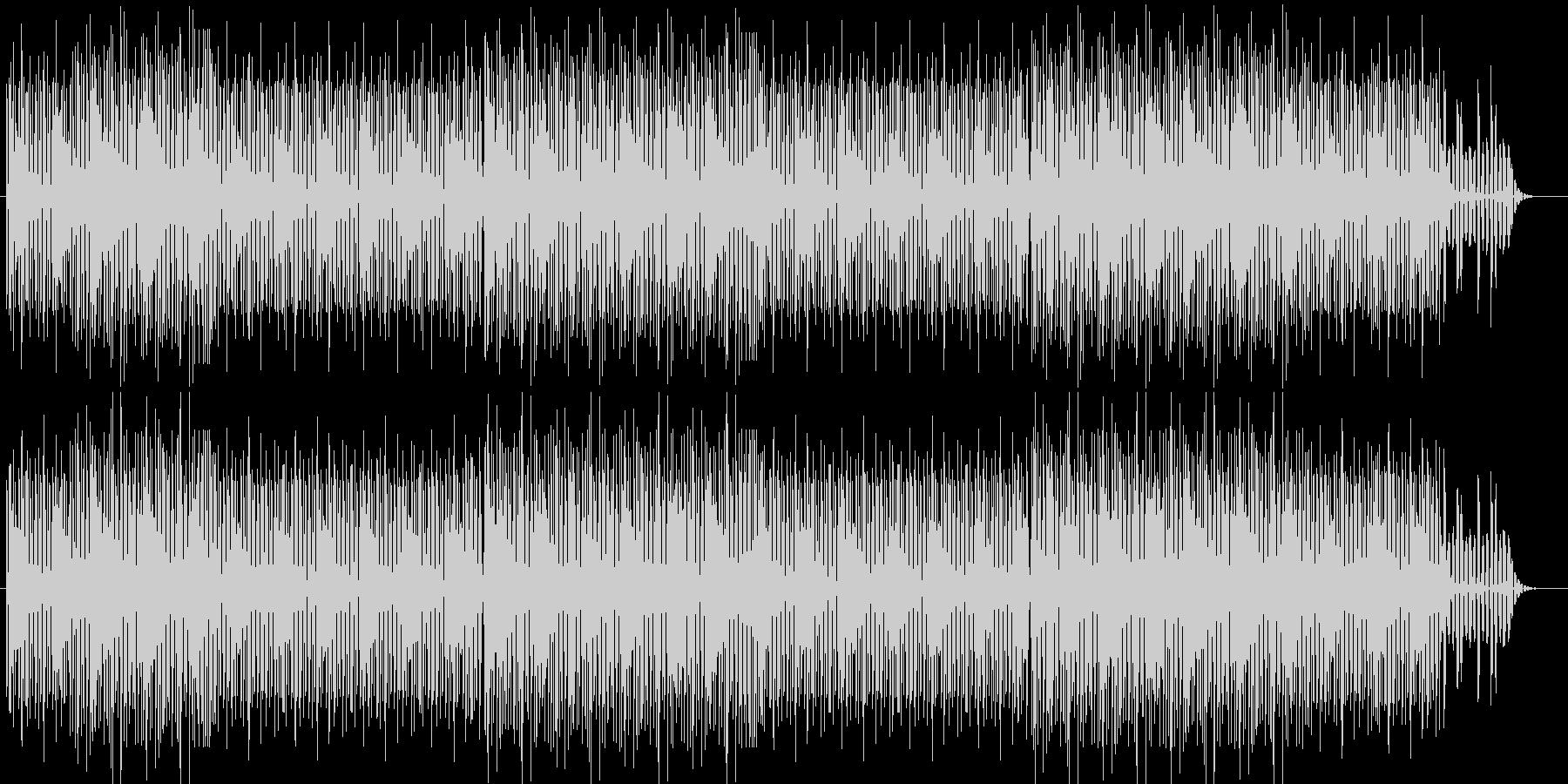 繰り返しのメロディーに次第に癒される曲の未再生の波形