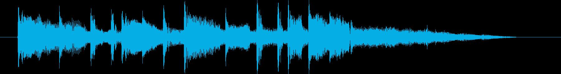 ゆったりリゾート感シンセサイザーサウンドの再生済みの波形