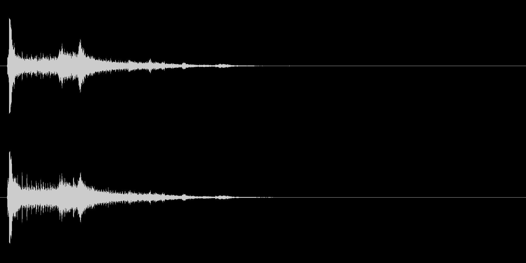 【アクセント01-2】の未再生の波形