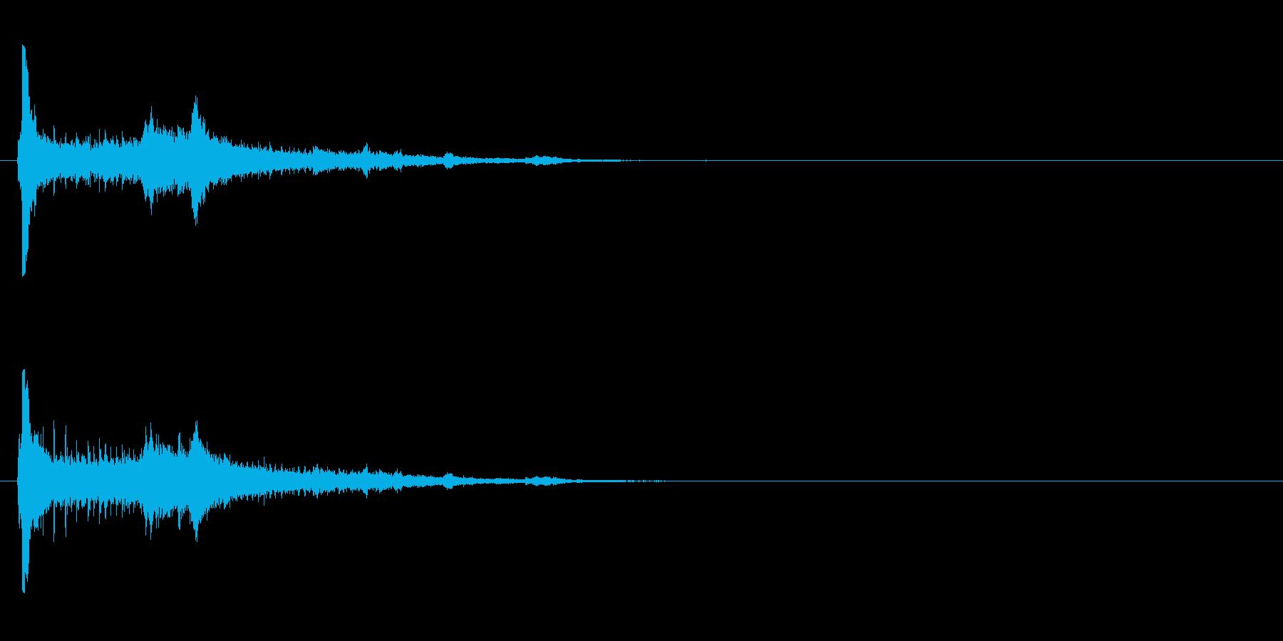 【アクセント01-2】の再生済みの波形