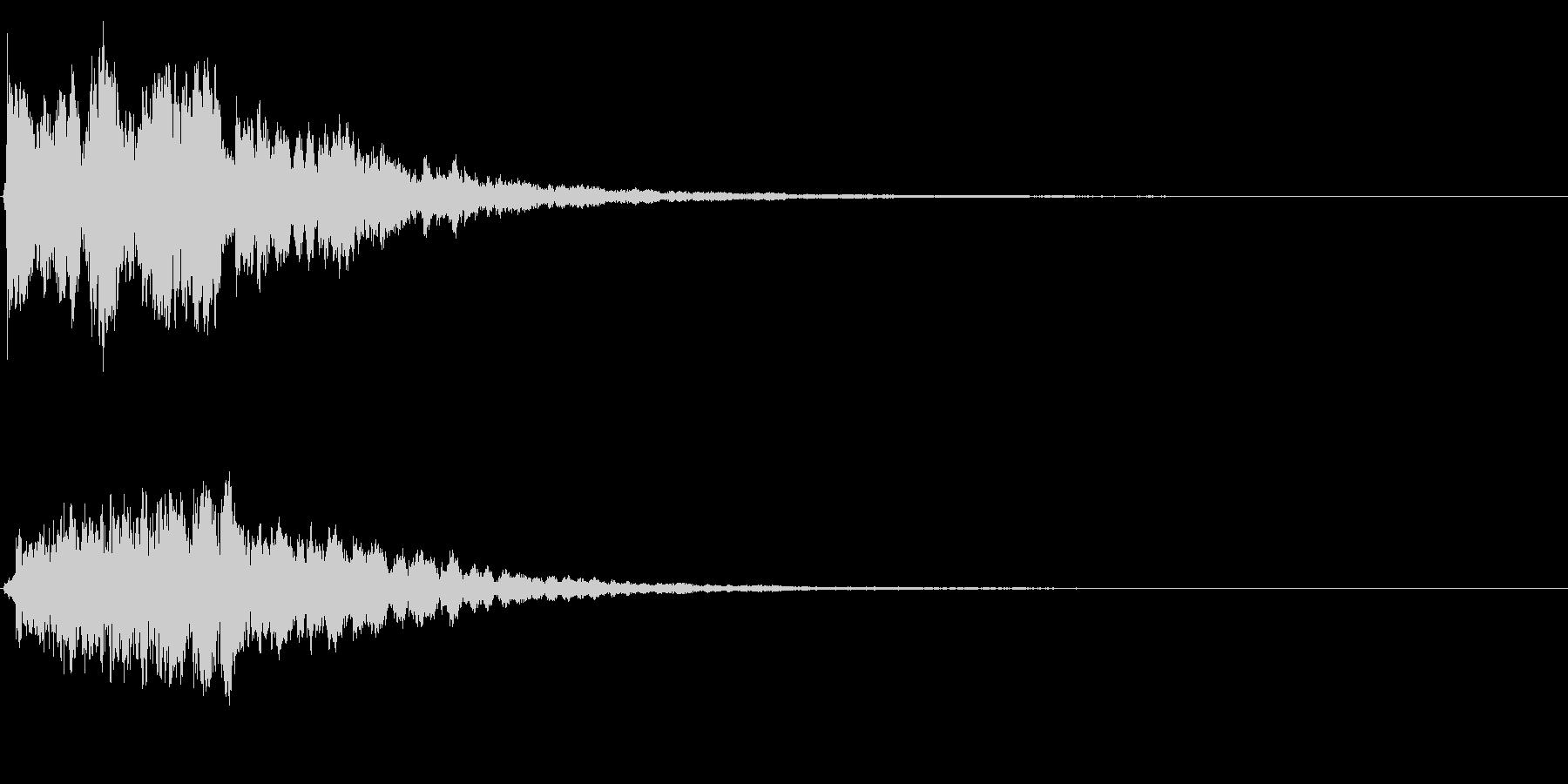 ゲームスタート、決定、ボタン音-138の未再生の波形