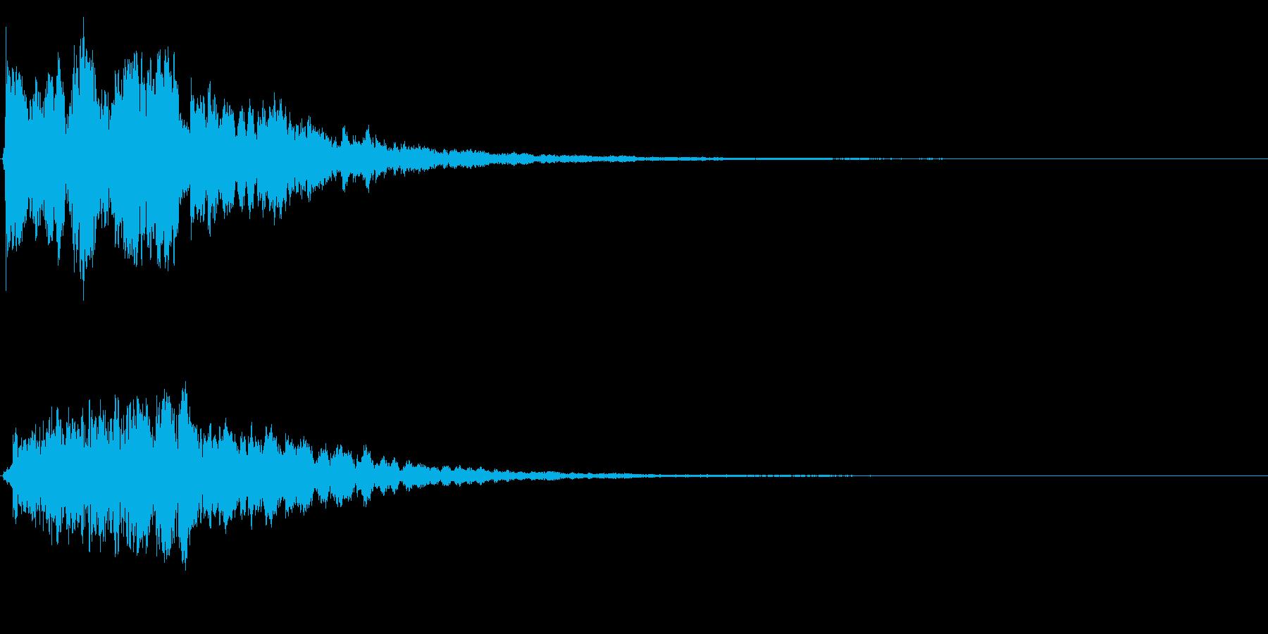 ゲームスタート、決定、ボタン音-138の再生済みの波形