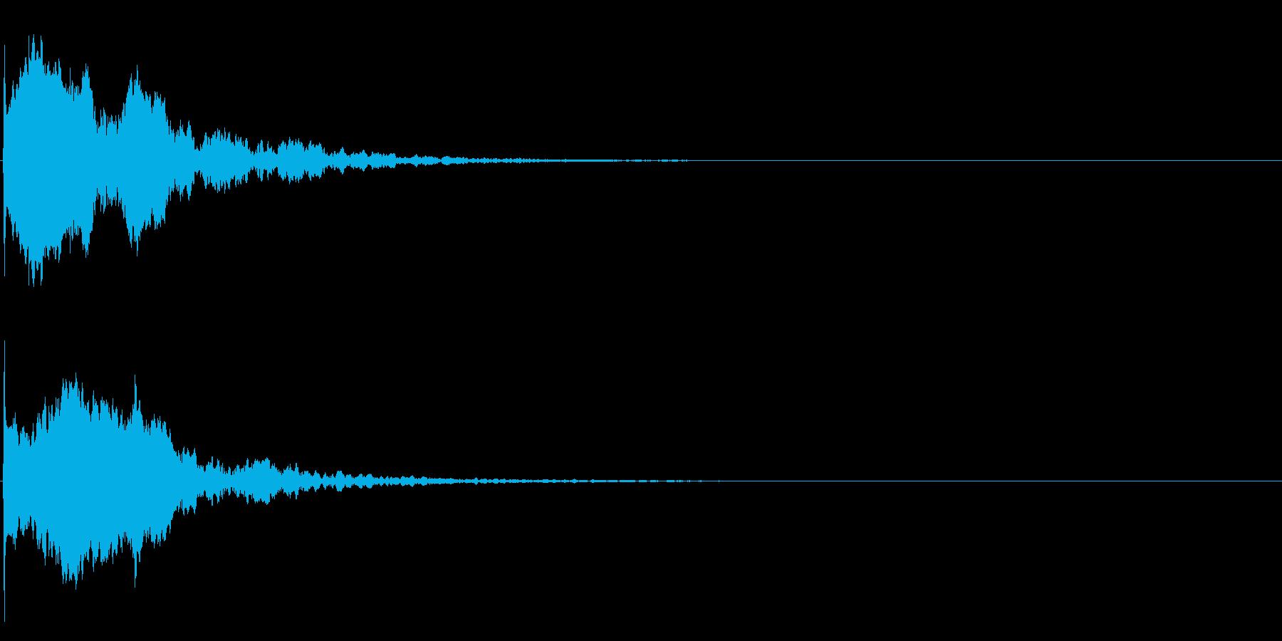 ゲームスタート、決定、ボタン音-115の再生済みの波形