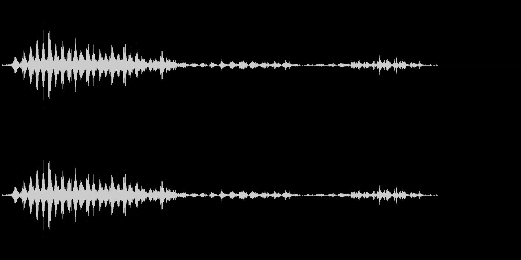「シャシャシャ〜」木製シェイカーの振り音の未再生の波形
