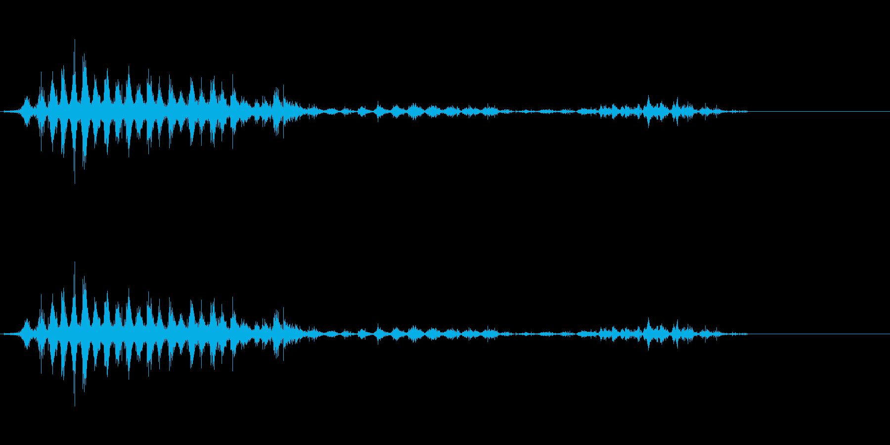 「シャシャシャ〜」木製シェイカーの振り音の再生済みの波形