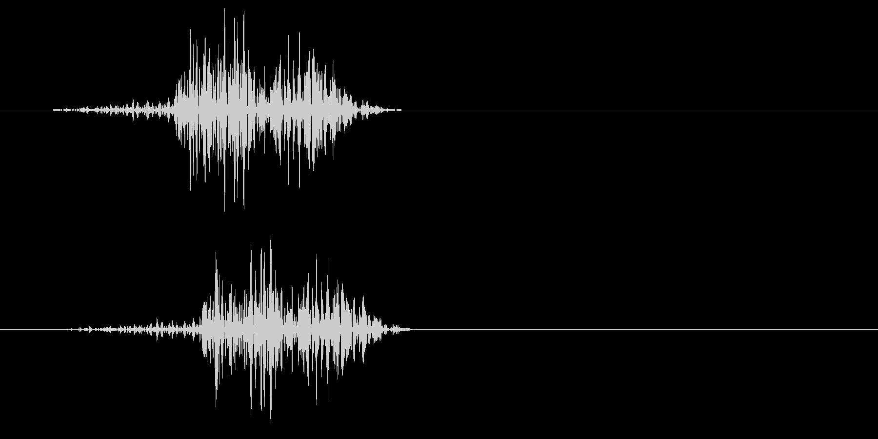 チュン(何かを絞り出すような音)の未再生の波形