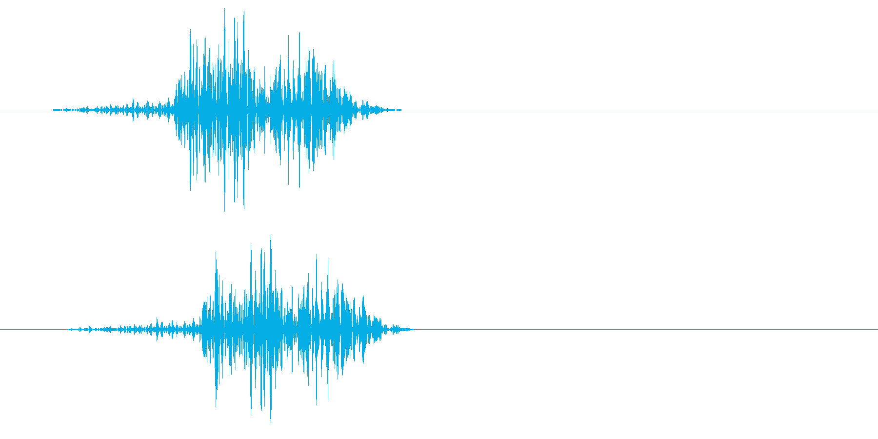 チュン(何かを絞り出すような音)の再生済みの波形