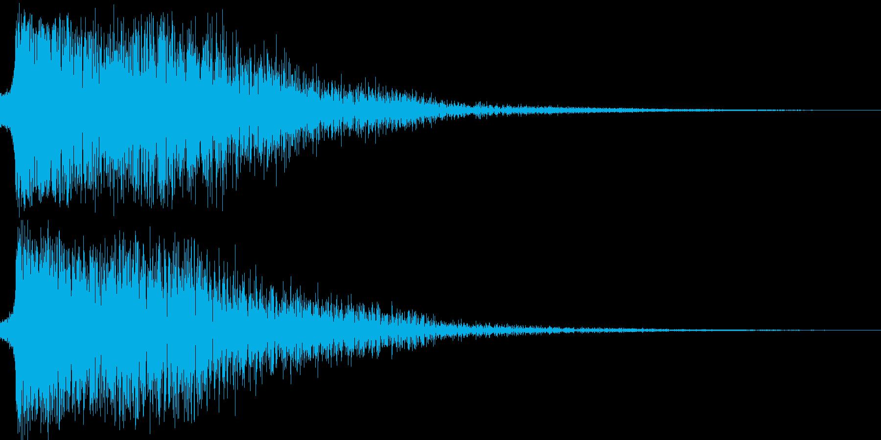 平手打ちの再生済みの波形