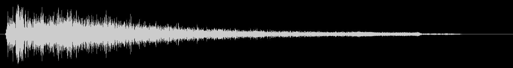 バーン(破裂音に近い打撃音)の未再生の波形