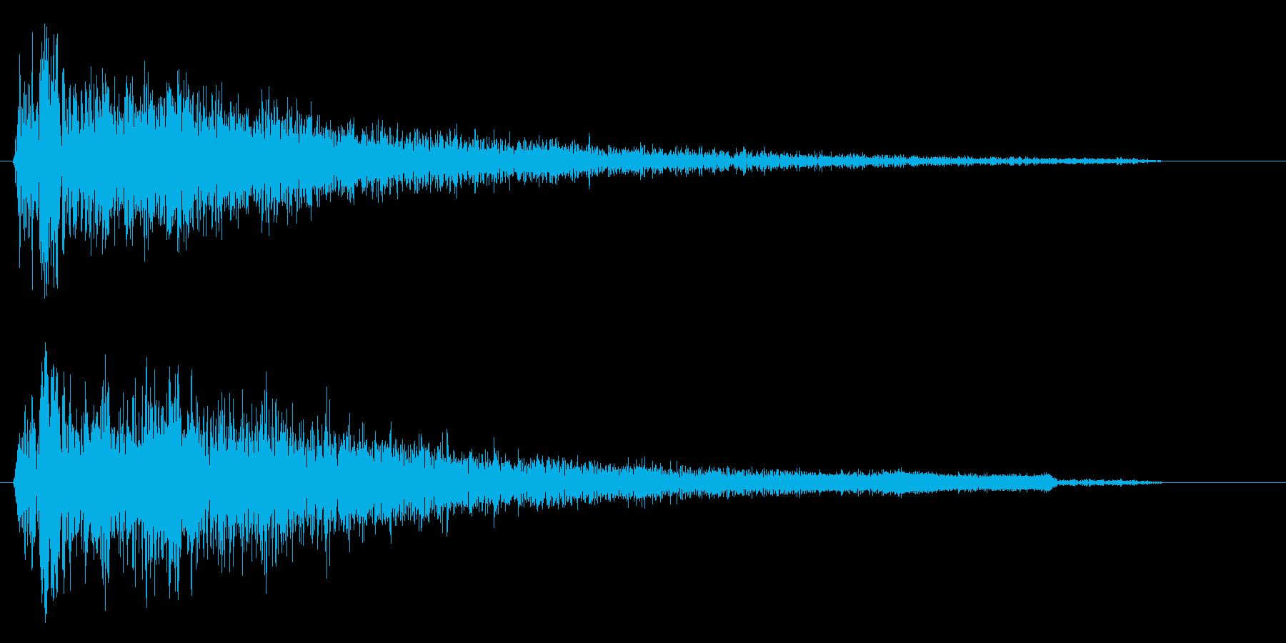 バーン(破裂音に近い打撃音)の再生済みの波形