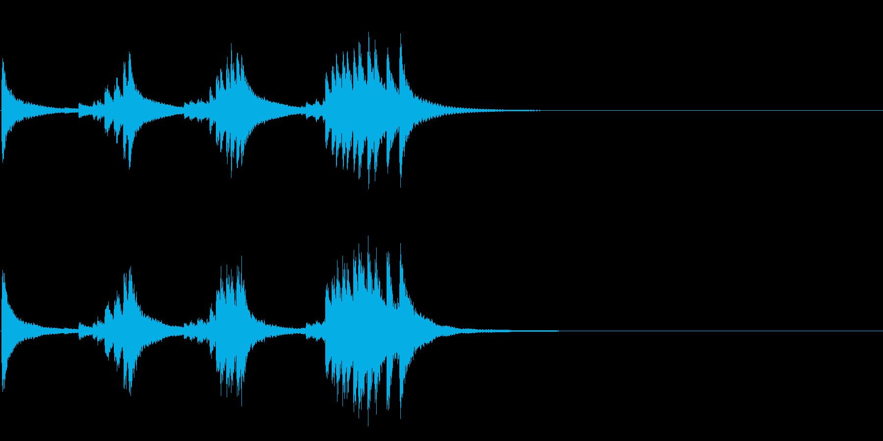 小型の鐘「本つり鐘」のフレーズ音4+Fxの再生済みの波形