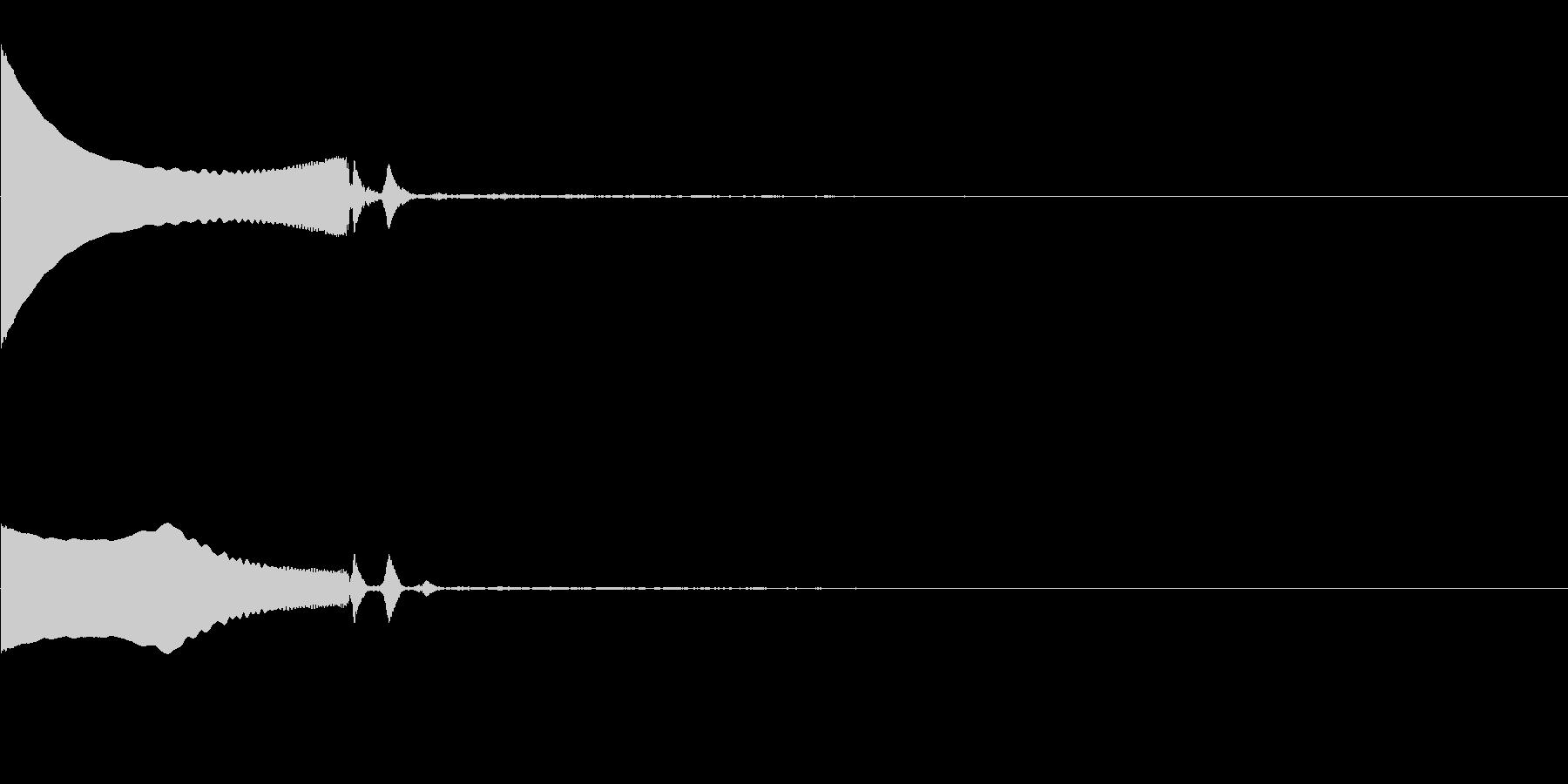 効果音 着地 ピオーン の未再生の波形
