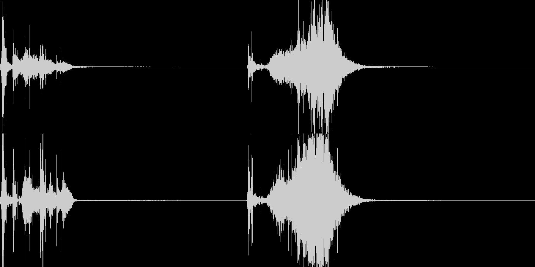 メジャー04(武器)の未再生の波形