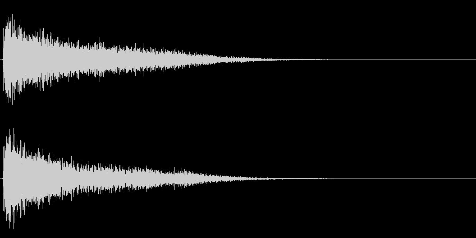 サスペンスに最適!ピアノの弦を弄ぶ音7の未再生の波形