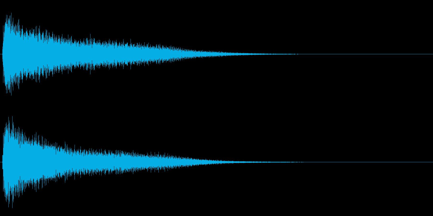 サスペンスに最適!ピアノの弦を弄ぶ音7の再生済みの波形