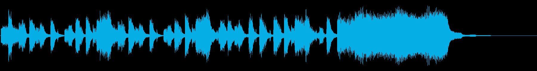 リズムが特徴的なシンセのジングルの再生済みの波形