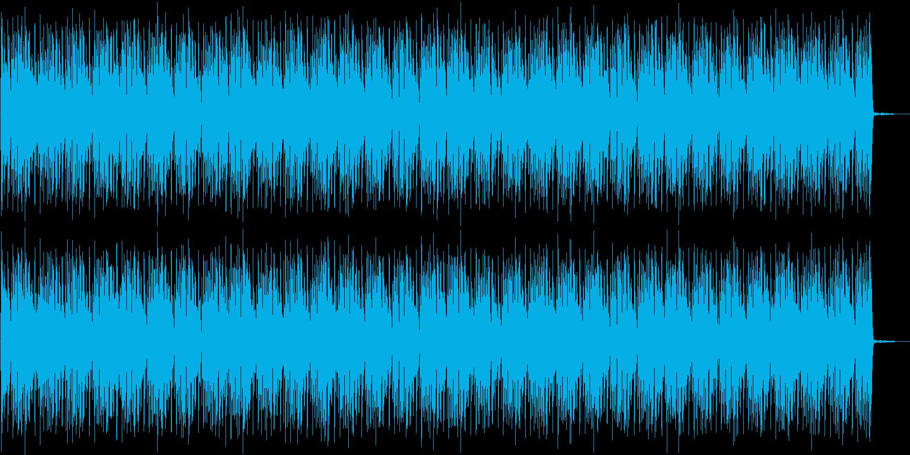 ドラムベース・シンプルなバトル系ループの再生済みの波形