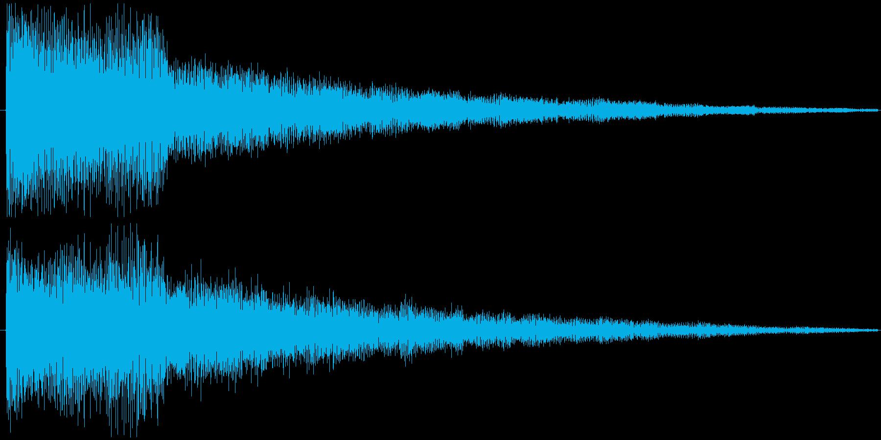 【効果音/ボタン/アプリ/癒し/ポワン】の再生済みの波形