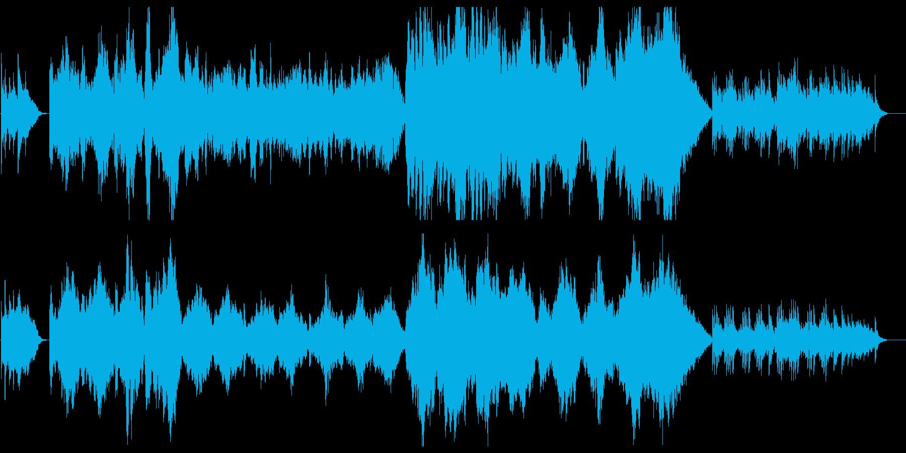 爽やかなオーケストラサウンドの再生済みの波形