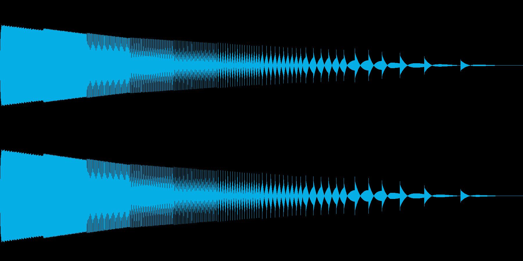ゲームオーバー ハズレの再生済みの波形