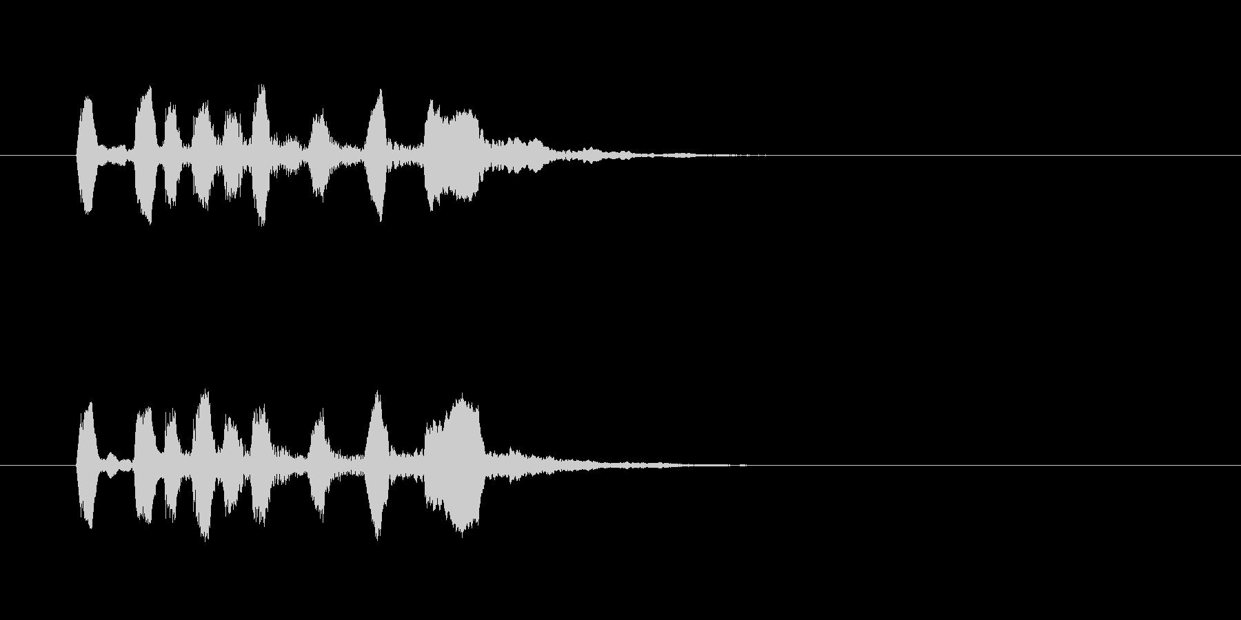 シンプルで軽快なトランペットジングルの未再生の波形