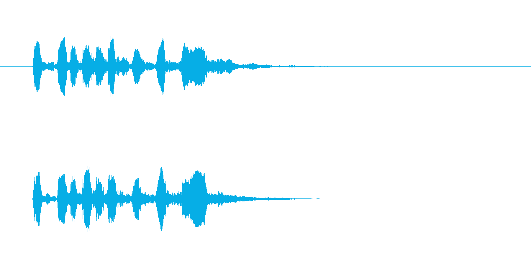 シンプルで軽快なトランペットジングルの再生済みの波形