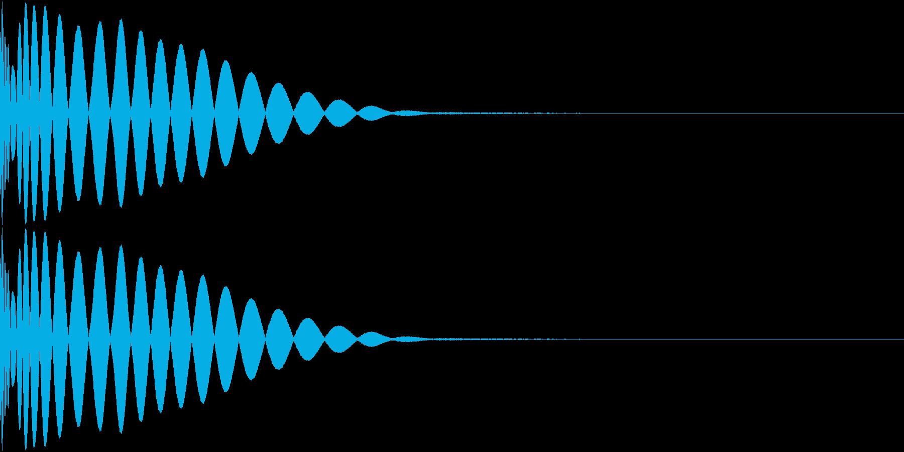 DTM Kick 81 オリジナル音源の再生済みの波形