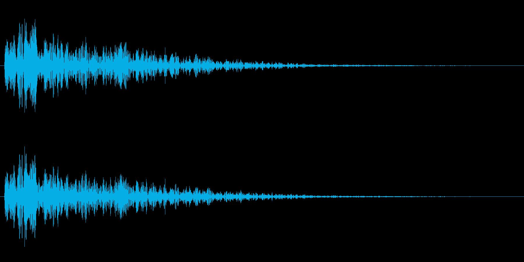 爆発音ですの再生済みの波形