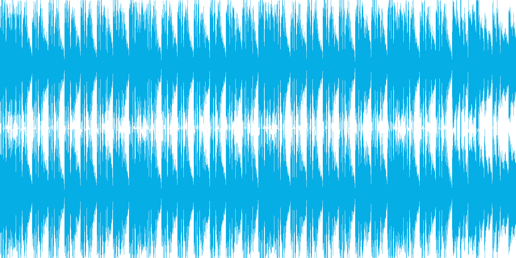 BGM01 EDM  15秒ループの再生済みの波形