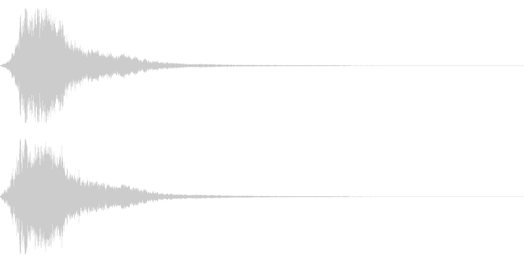 シャキーン!勢いのあるインパクト音 03の未再生の波形