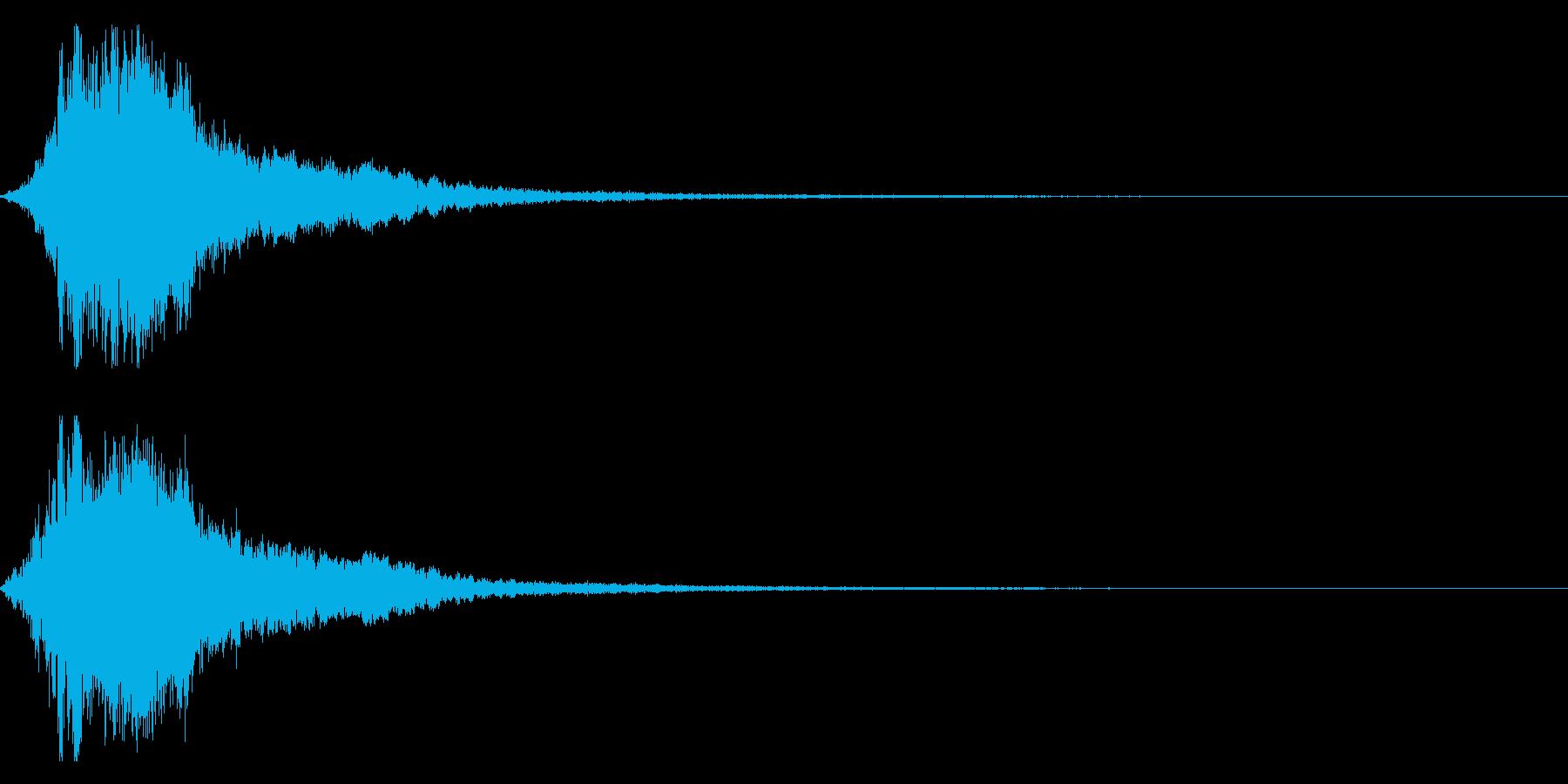 シャキーン!勢いのあるインパクト音 03の再生済みの波形