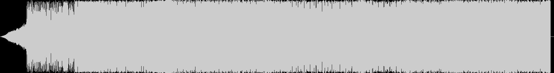 激しく攻撃的なエレクトロサウンドです。の未再生の波形
