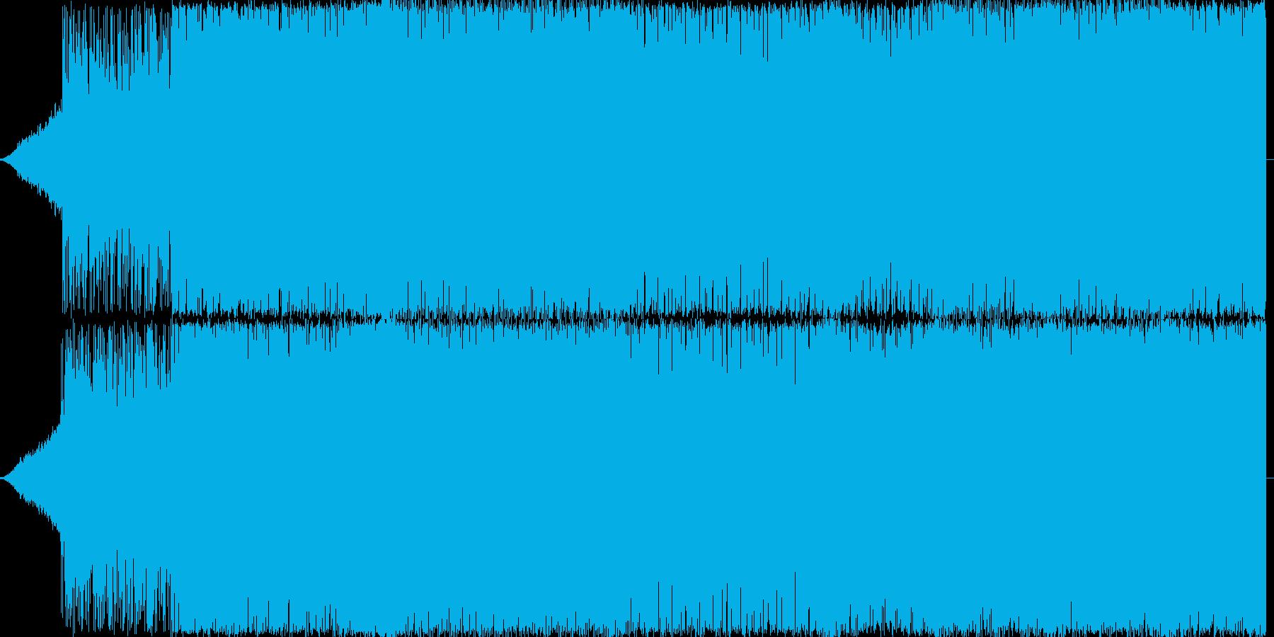 激しく攻撃的なエレクトロサウンドです。の再生済みの波形