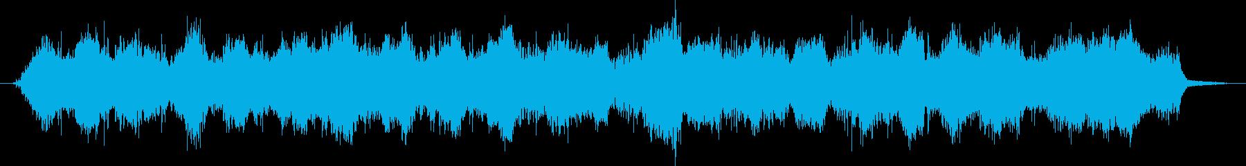 何かが這い寄ってくる雰囲気のホラーBGMの再生済みの波形