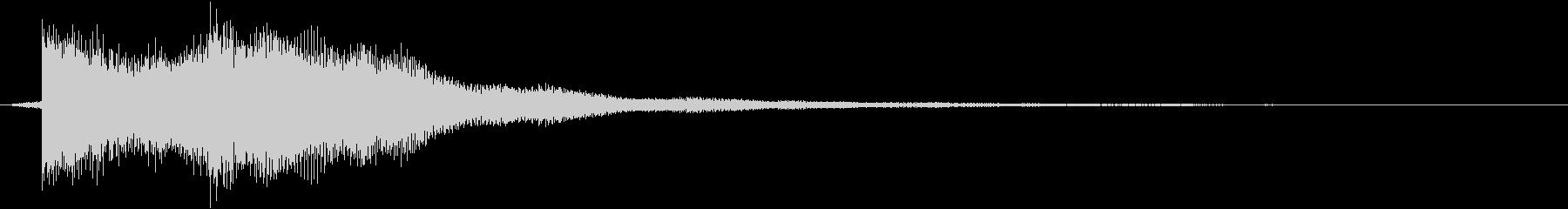 正解 ◯ ピンポンの未再生の波形