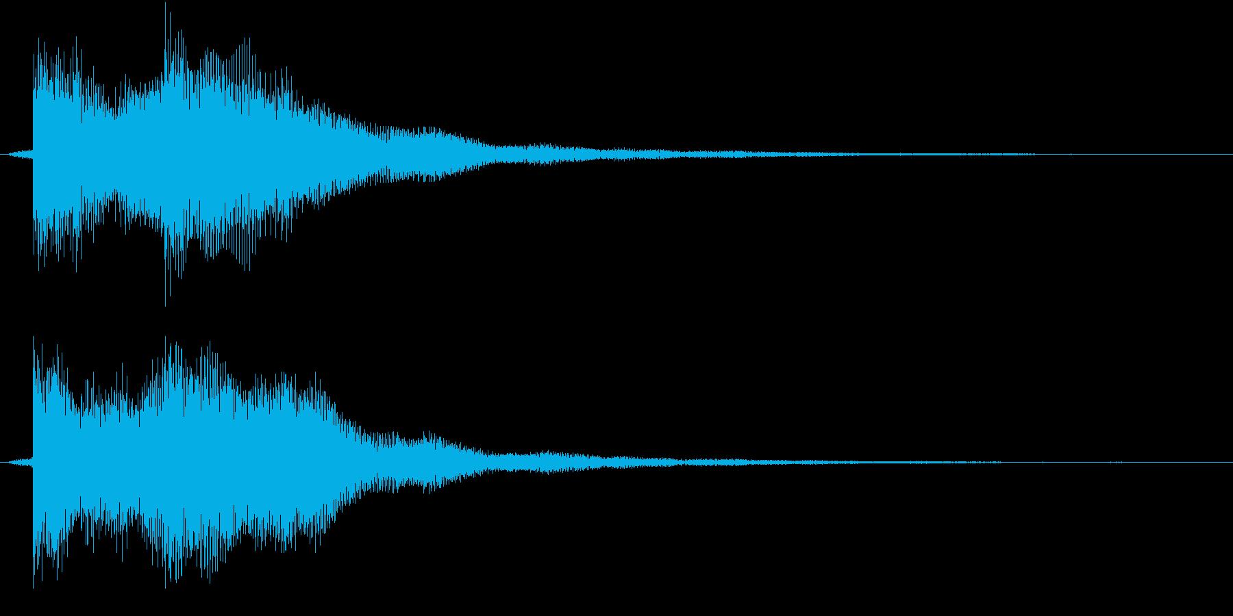 正解 ◯ ピンポンの再生済みの波形