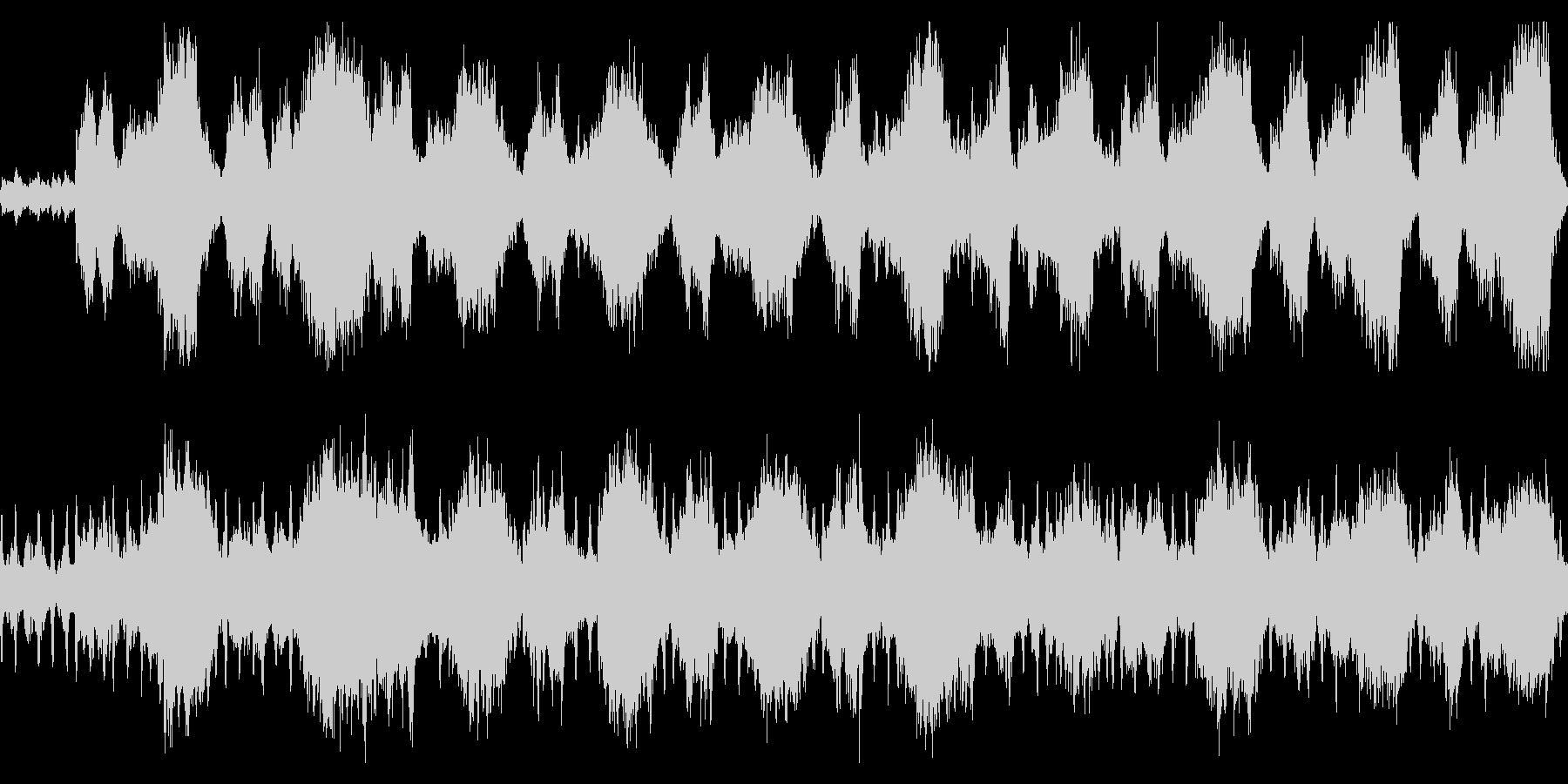 恐怖を演出するストリングス ループ素材の未再生の波形