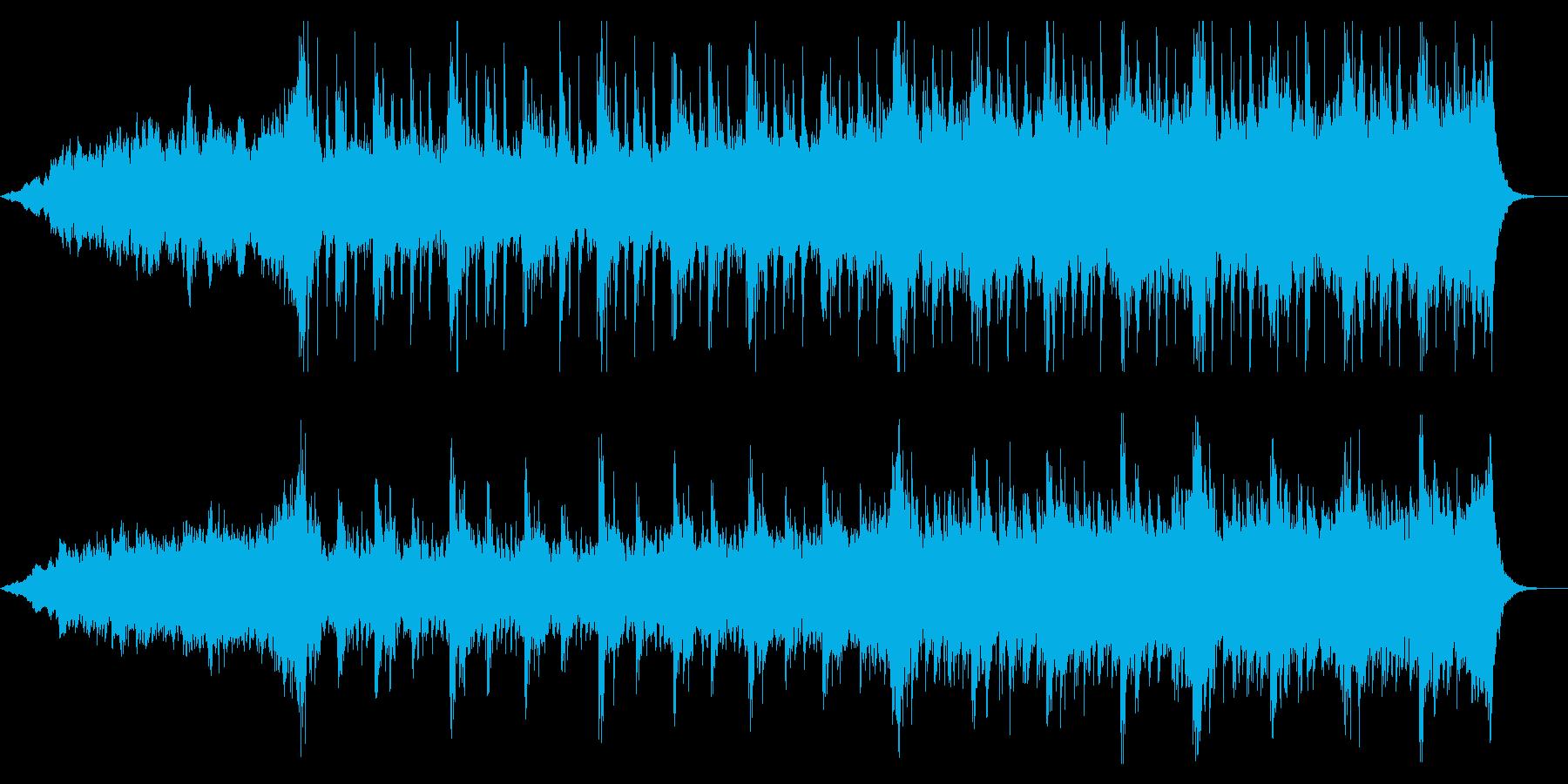 宇宙を感じさせる映画音楽風BGMの再生済みの波形