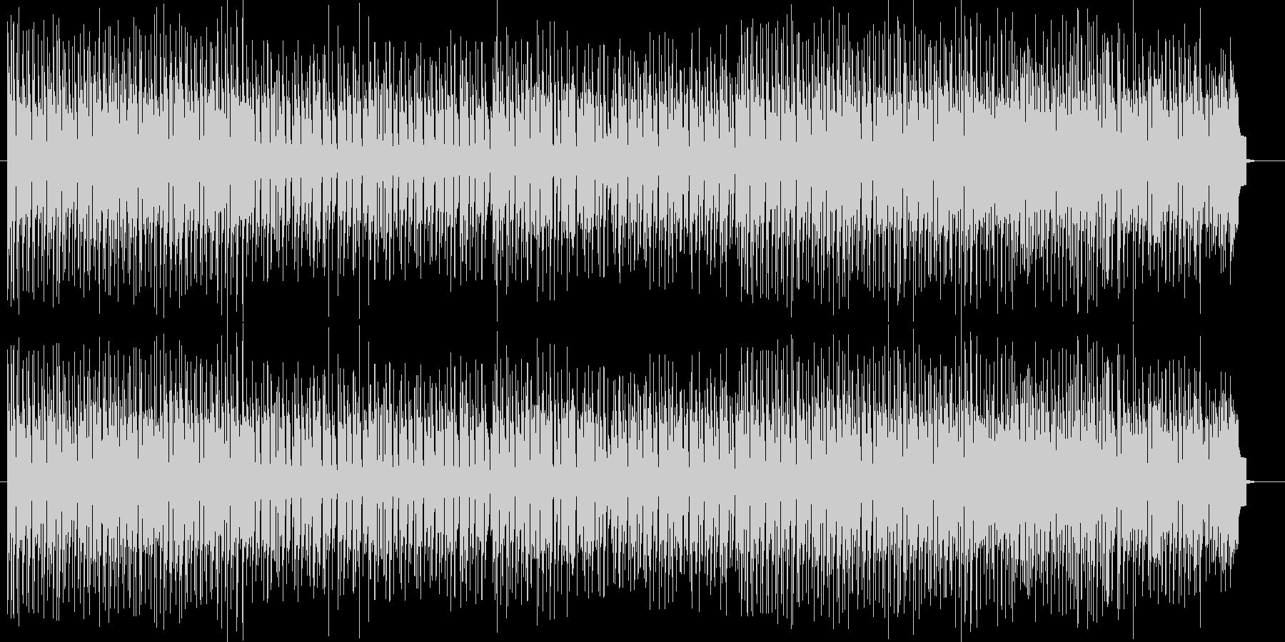 ノリノリのテンポのテクノポップスの未再生の波形