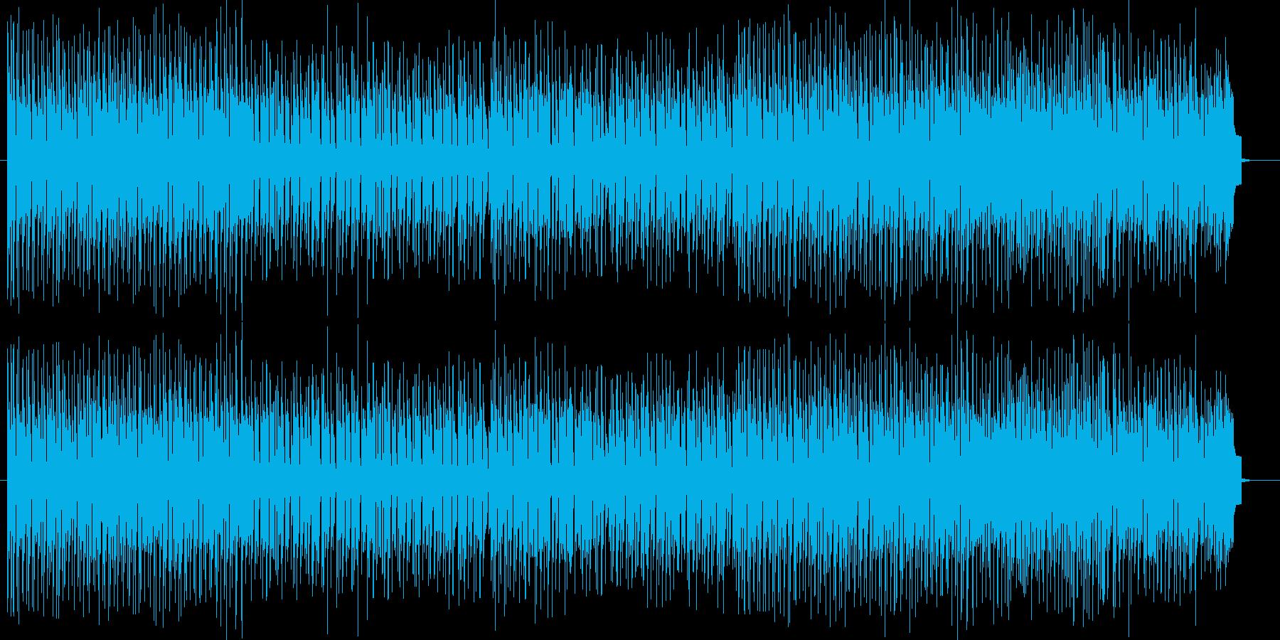 ノリノリのテンポのテクノポップスの再生済みの波形