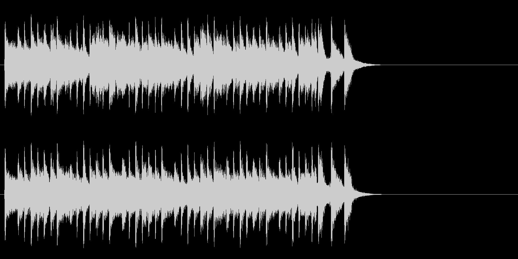 ほのぼのとしたポップ(サビ)の未再生の波形