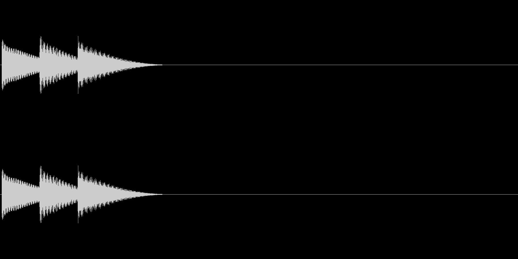 ゲームのキャンセル音「テレロ」の未再生の波形